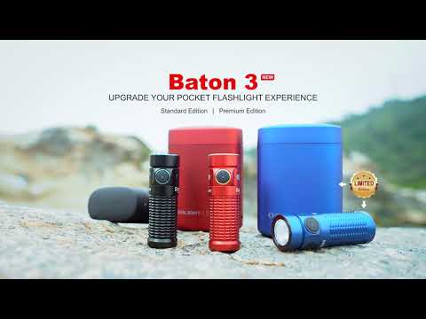 Senter Olight Baton 3 1200 Lumens Rechargeable Flashlight LED