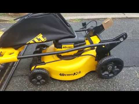 Dewalt 40v Lawn Mower First Look Unboxing Youtube
