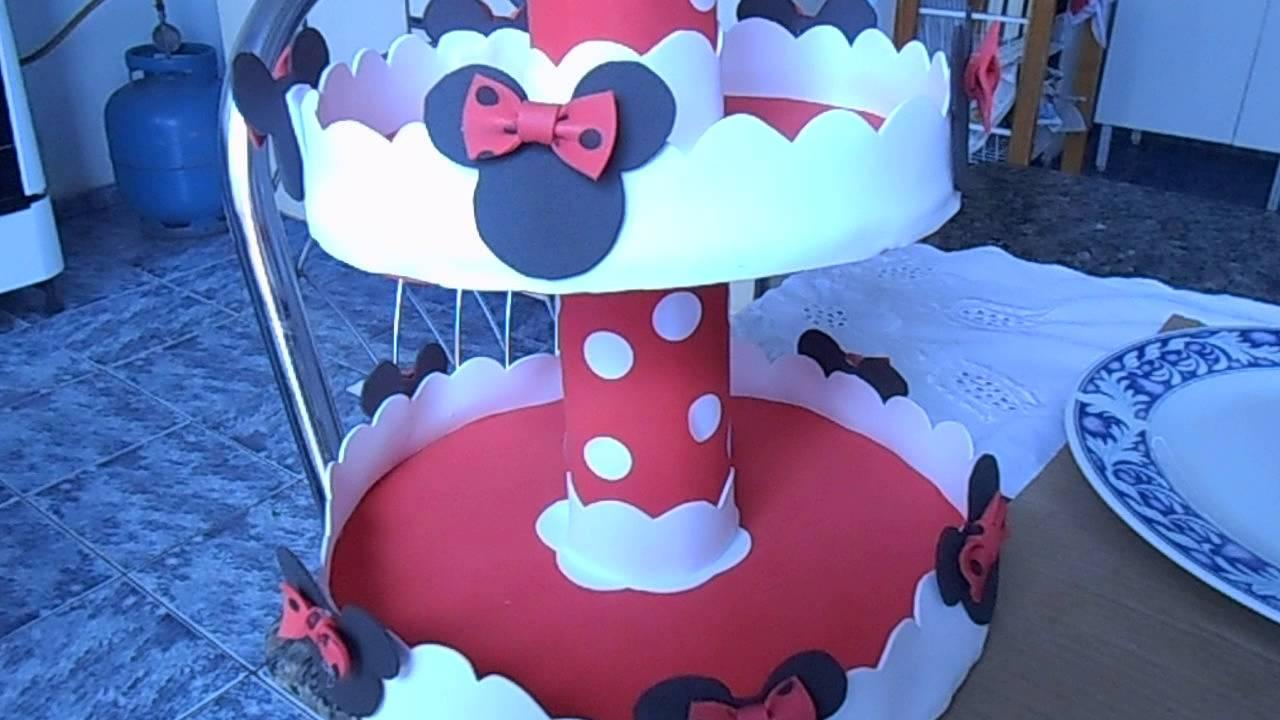 decoracao festa mickey : decoracao festa mickey:baleiro simples para festa da minnie vermelha – YouTube