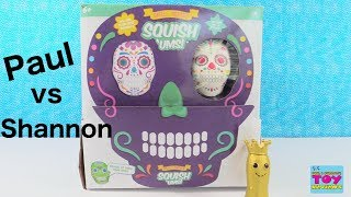 Paul vs Shannon Challenge SquishUms Skull Series Squishies | PSToyReviews
