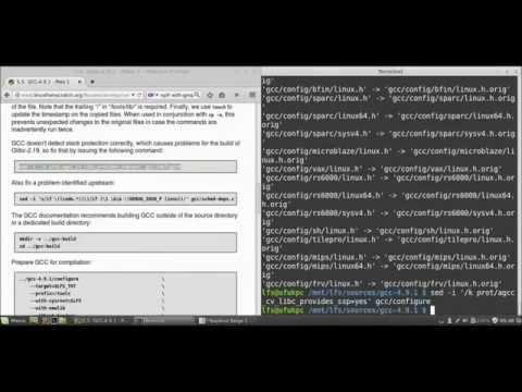 Linux From Scratch 7.5 - Sıfırdan Linux - 2 - Kurucu Araçların Kurulumu