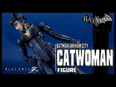 "ARKHAM CITY CATWOMAN Play Arts Kai 9/"" Figure Square Enix Batman"