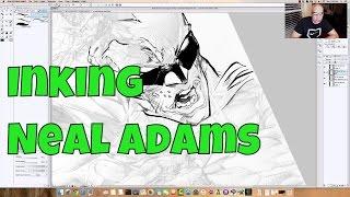 Inking Neal Adams