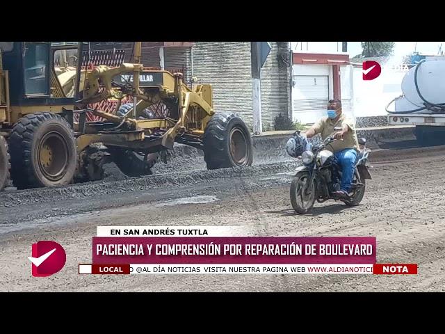 PACIENCIA Y COMPRENSIÓN POR REPARACIÓN DE BOULEVARD
