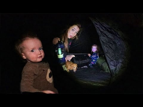BACKYARD TENT!! First Time Camping with Adley and Baby Niko! Smores routine by the Camp Fire