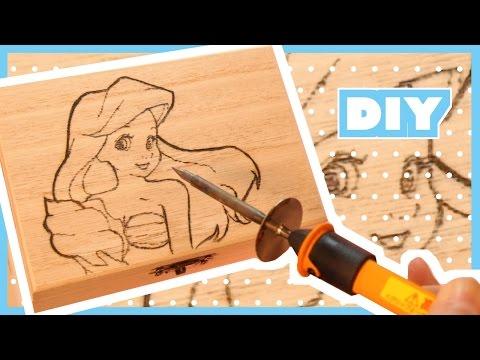 DIY Cute Wood Burning Accessory Box Tutorial   Disney
