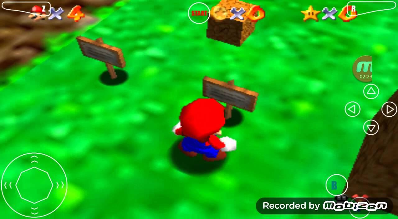 Android Nintendo 64 N64 MegaN64 Emulator Super Mario 64 Game Play