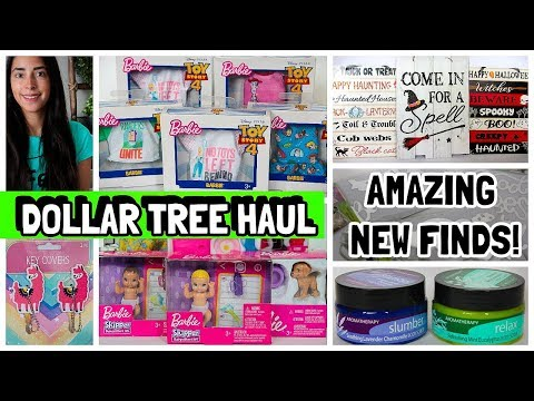 DOLLAR TREE HAUL 2019 NEW FINDS BARBIE AND TOY STORY