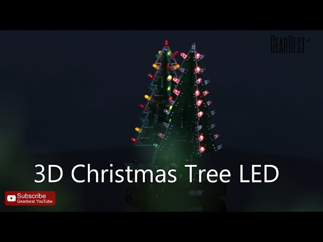 3d christmas tree led 3 color lights diy electronic learning set for decoration gift display - Christmas Tree Led
