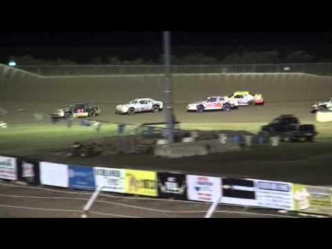 IMCA Stock Car heat 1 34 Raceway 9/19/15