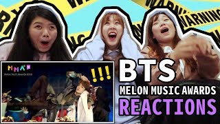 【Reaction】BTS (방탄소년단) Intro + FAKE LOVE + Airplane pt.2 + IDOL (Melon Music Awards 2018)|Tungzzang