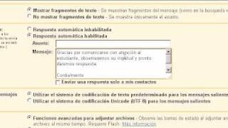 Crear una respuesta automática para la recepción de correos