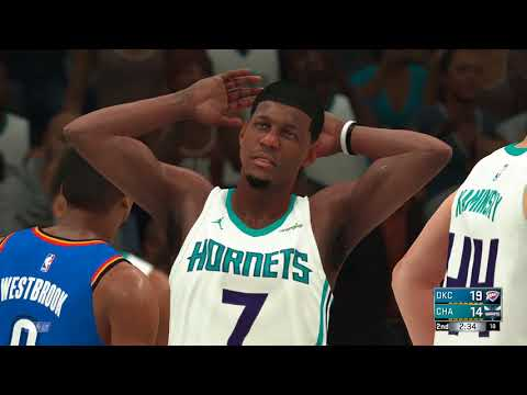 NBA 1/13 Oklahoma City Thunder vs Charlotte Hornets NBA JAN 13 Full Game Thunder vs Hornets NBA 2K18