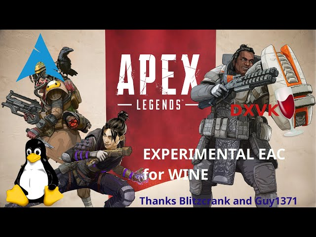 Apex Legends - DXVK/wine-EAC | Linux Gameplay