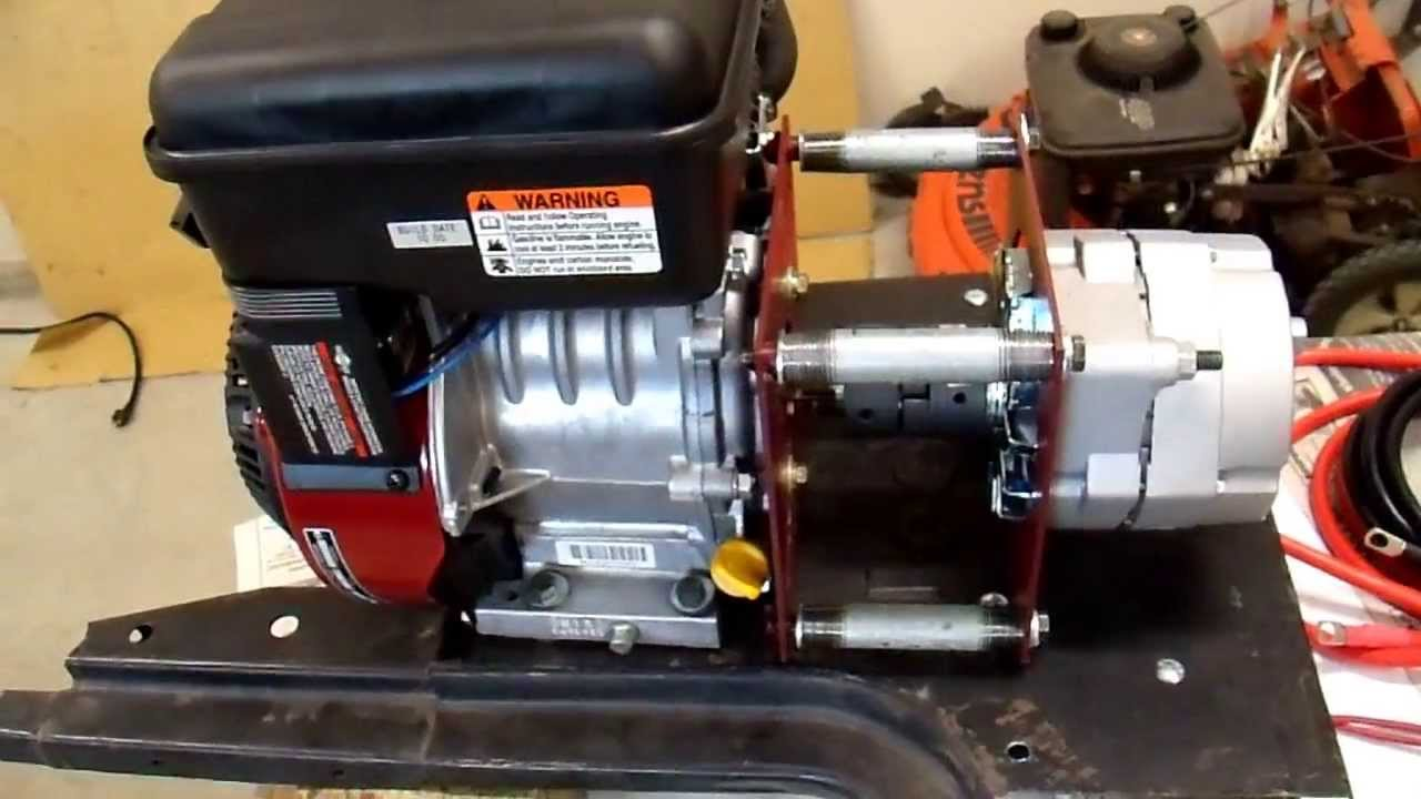 Kubota Alternator Wiring Diagram 1997 Ford F350 Diy 12v Generator Charger - 3 Getting Ready To Fire It Up Youtube