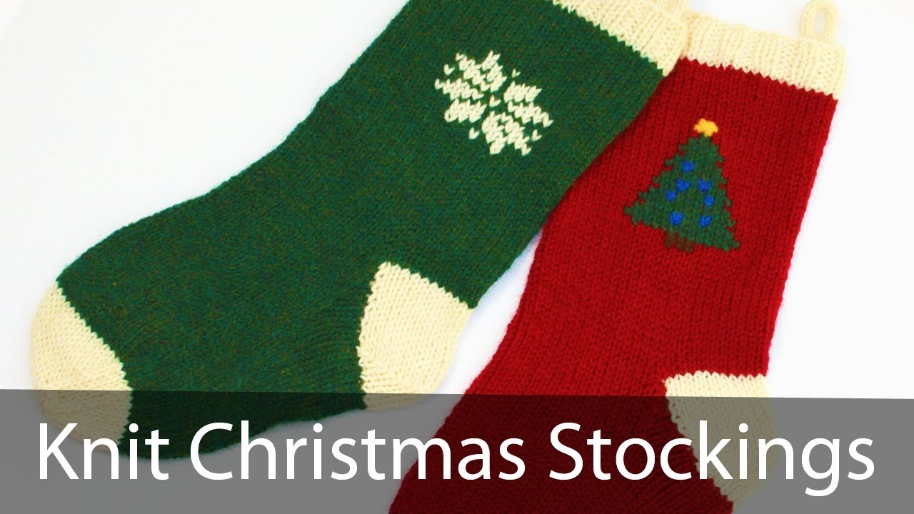 Learn to knit a christmas stocking part 1 youtube bankloansurffo Images