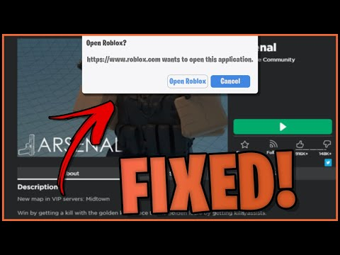 How To Make Chrome Always Open Roblox How To Fix Roblox Popup Screen 2020 Youtube