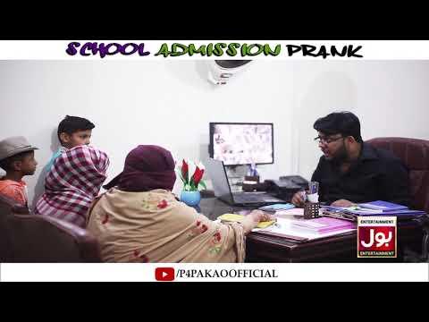   School Admission Prank   By Nadir Ali In   P4 Pakao   2019