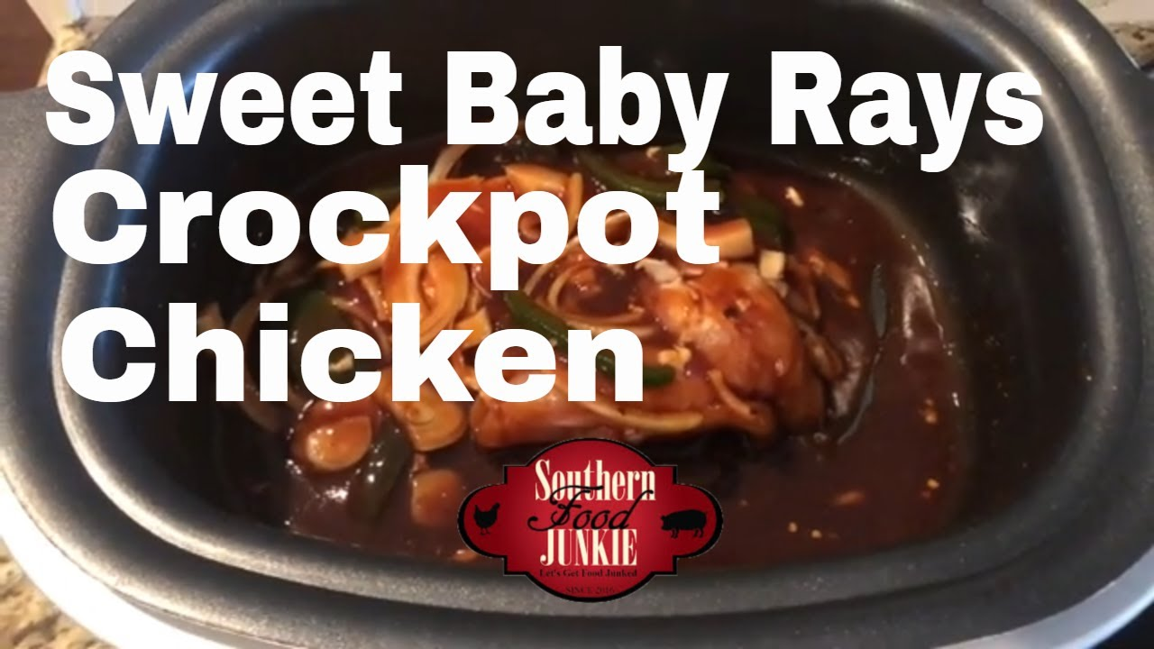 Sweet Baby Ray S Crockpot Chicken Southern Food Junkie