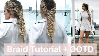 Stacked Braid Hair Tutorial / GRWM