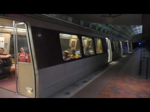 DC Metro (WMATA): New Carrollton bound Orange Line train at Federal Triangle