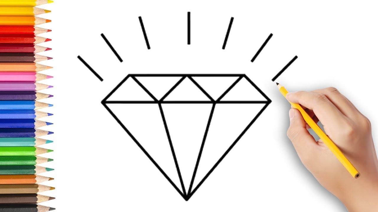 Pirlanta Cizimi Nasil Yapilir How To Draw A Diamond Step By Step