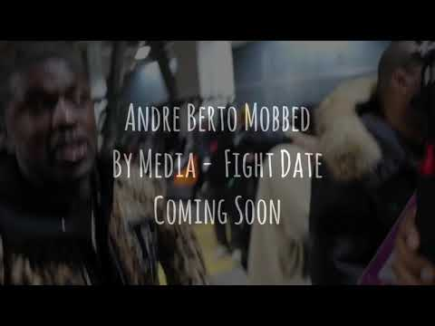 Andre Berto Mobbed By Media - Fight Date Coming Soon