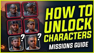 BLACKOUT : HOW TO UNLOCK CHARACTERS - All Launch Skins