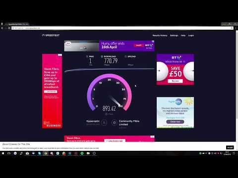 Hyperoptic 1Gbps Internet Speed Test (fastest UK internet)