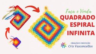 Quadrado Espiral Infinita - Você decide o tamanho! | #Façaevenda 02