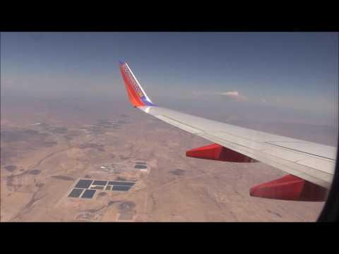 Southwest Airline Flght 1974 Boeing 737-700  landing at Phoenix Sky Harbor International Airport