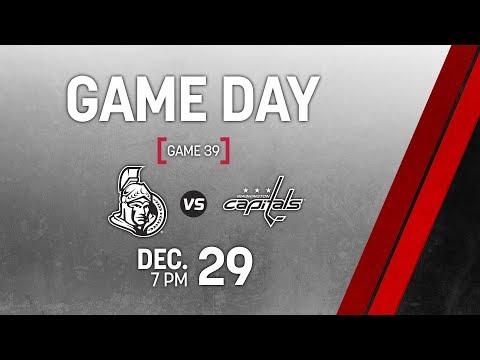 NHL 19 PS4. REGULAR SEASON 2018-2019: Washington CAPITALS VS Ottawa SENATORS. 12.29.2018. (NBCSN) !