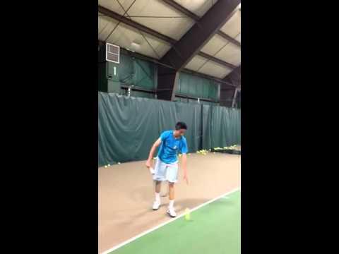 Michael Chen Serving - NJ Tennis