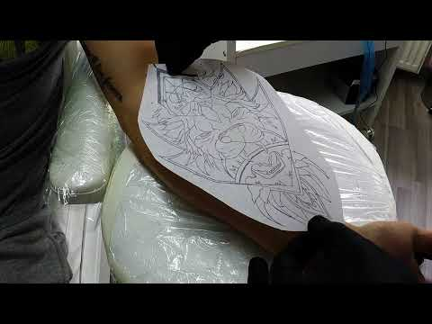Tattoo Time Lapse Dotwork Lion