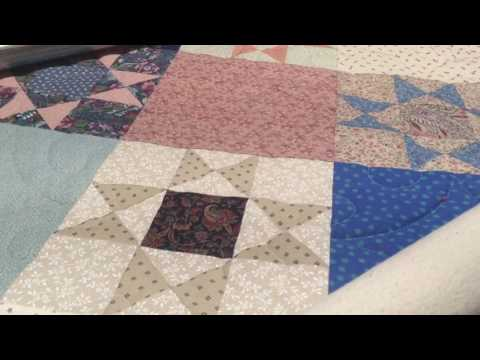 """An """"antique"""" quilt on my longarm"""