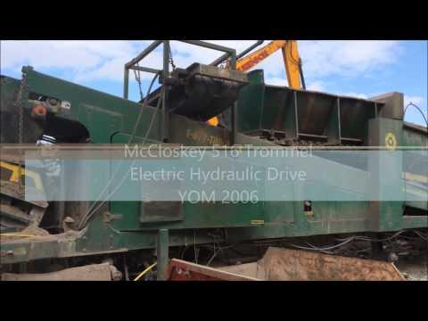 Used McCloskey 516 Trommel Screen for Sale   Used Mobile Trommel