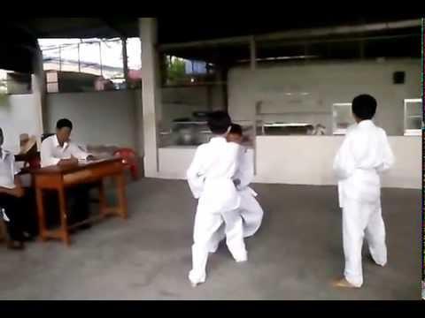 Lễ thi Taekwondo lên Đai Vàng của Trường THCS Bình An