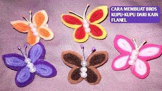 #caramembuatbros assalamu alaikum.... pada kesempatan kali ini... di channel hadam d&t akan membagikan cara membuat bros kupu-kupu dari kain flanel. caranya ...