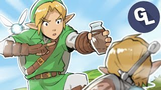 Link Teaches Link About Empty Bottles
