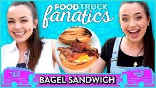 Video BAGEL SANDWICH CHALLENGE | Food Truck Fanatics w/ The Merrell Twins download MP3, 3GP, MP4, WEBM, AVI, FLV Agustus 2018