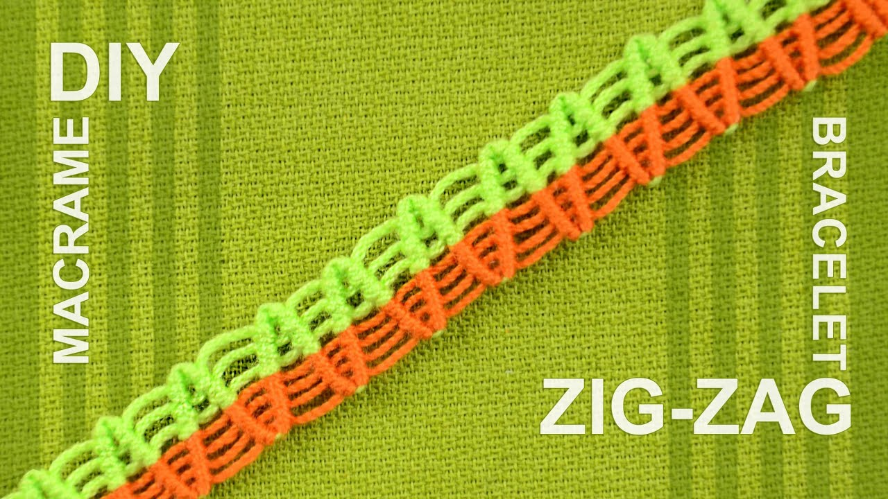 How To Make A Zigzag Macrame Bracelet Tutorial Youtube