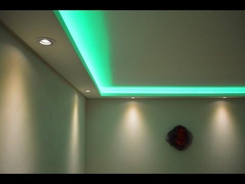 Stuckleisten Lichtprofile fr indirekte LED Beleuchtung mit Spots  LED Bnder  YouTube