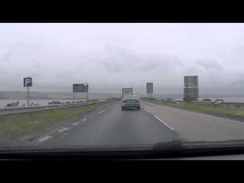 Cromarty Bridge southbound - A9 - Scotland by Car
