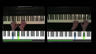 Zie ginds komt de stoomboot, piano 4 handen