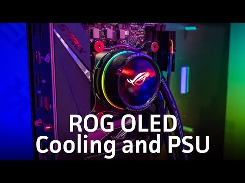 Asus packs OLED displays into new ROG liquid-coolers and power supplies