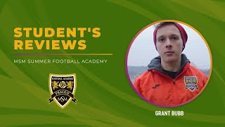 Grant Bubb MSM Football Academy, January 2018