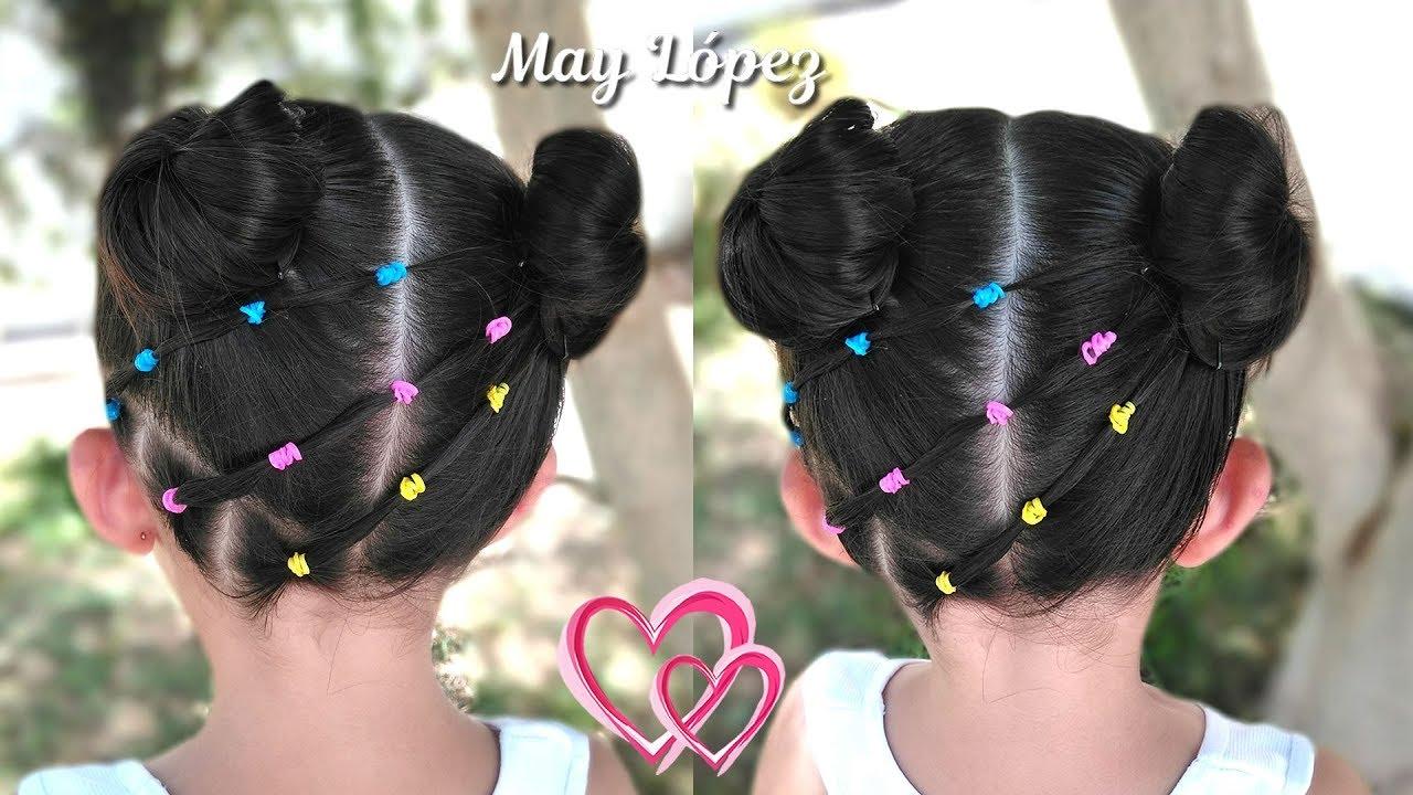 Diversión y halagos peinados para niñas faciles Colección De Cortes De Pelo Consejos - Peinados Para Ninas Faciles Con Ligas - Peinado Hermoso