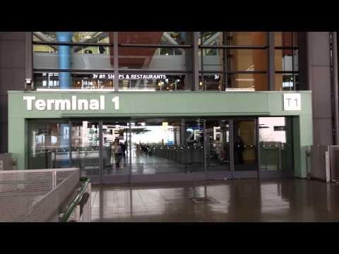 Terminal 1 Exit Gate at Kansai International Airport Osaka