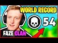 TFUE BREAKS KILL *WORLD RECORD* - 54 KILLS FAZE CLAN HIGHLIGHTS | Fortnite Battle Royale