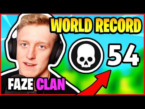 TFUE BREAKS KILL *WORLD RECORD* - 54 KILLS FAZE CLAN | Fortnite Battle Royale